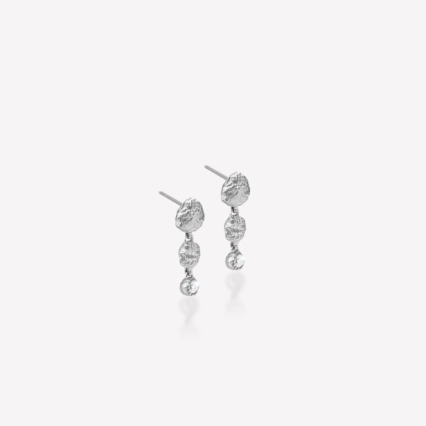 Silver 18k gold fill Nature-3 Earring