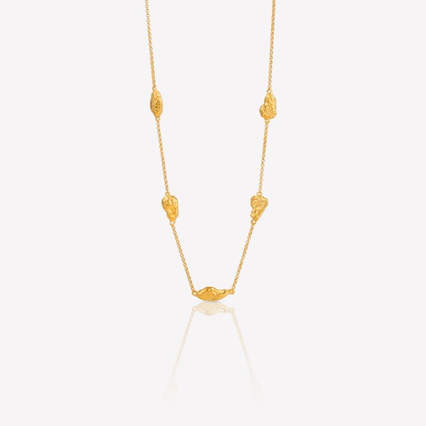 Silver 18k gold fill Nature-3 Necklace