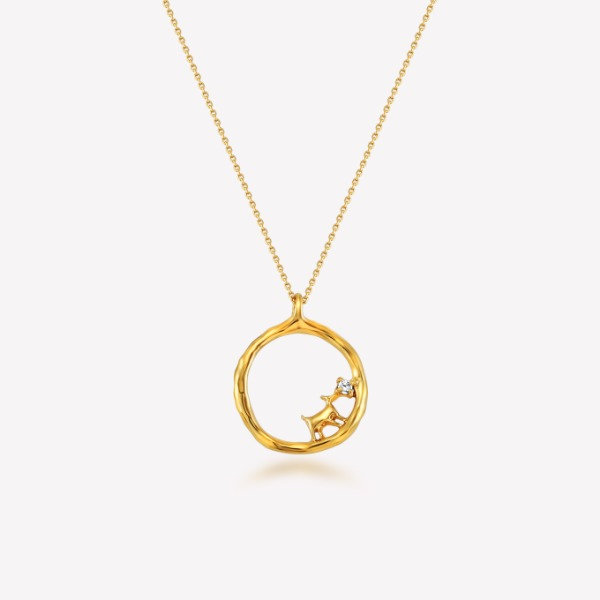 Silver 18k gold fill Dee Necklace
