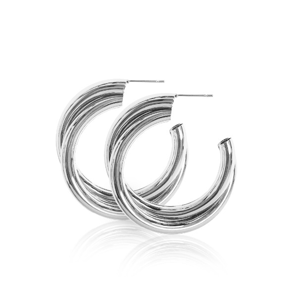 S tonn Twisted Round Earrings