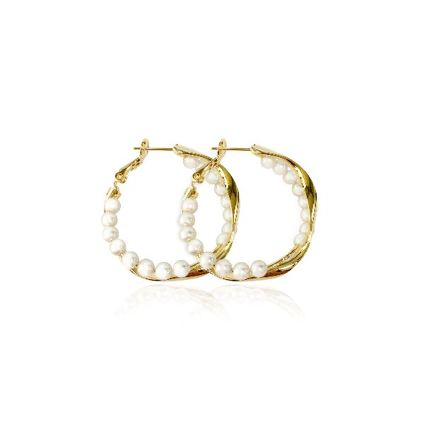 S tonn Twisted Pearl Earrings
