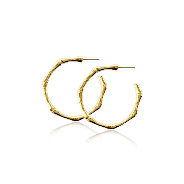 S tonn Bamboo Hoop earrings