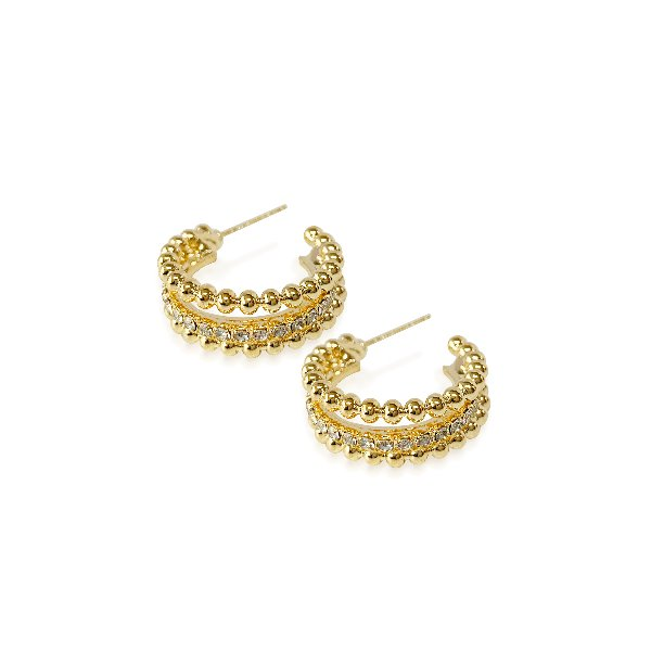 S tonn Three-String Earrings