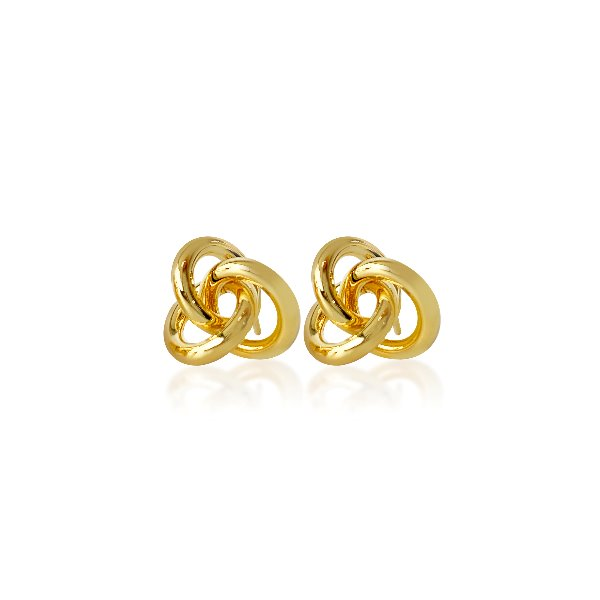 S tonn Mini-tailed Knot Earrings