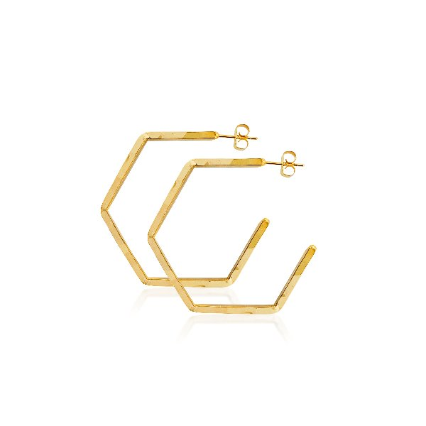 S tonn Hexagonal Earrings