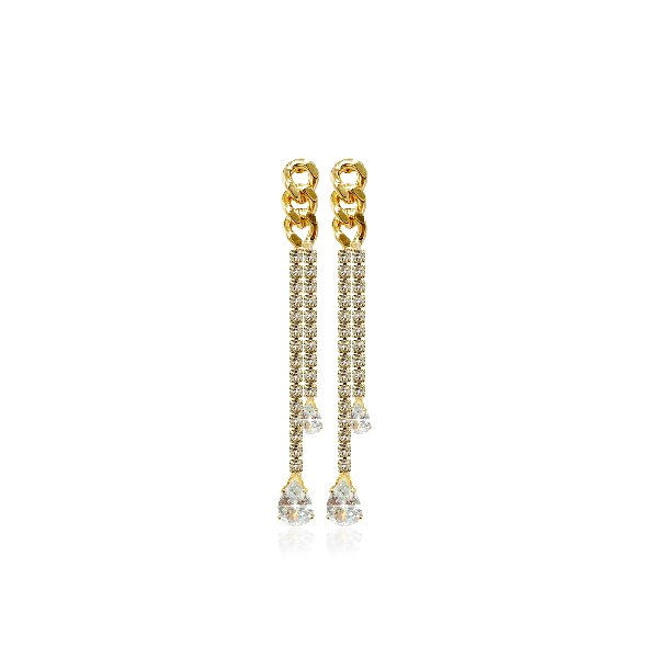 S tonn Crystal Tassel Earrings