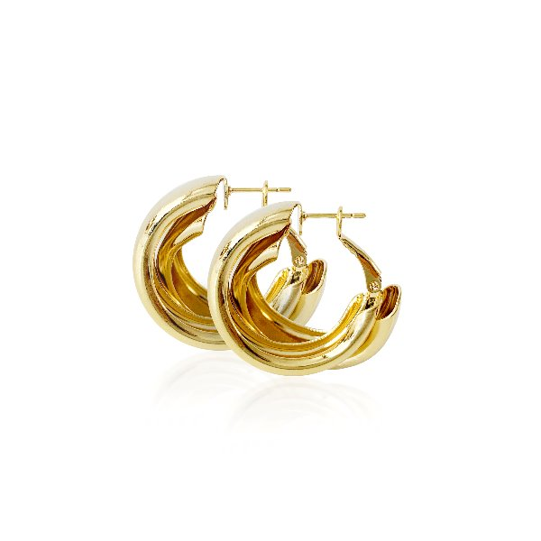 S tonn Twist round Earrings