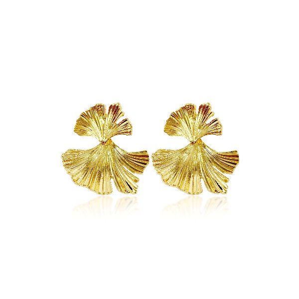 S tonn Ginkgo Leaf Earrings